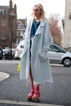 nice Street Style : Street style at London Fashion Week...
