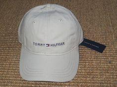 NEW TOMMY HILFIGER MEN'S BASEBALL CAP HAT   LOGO SPORT CLASSIC   KHAKI  NWT…