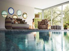 Upholstery fabric / patterned - GOLDEN AGE - MISSONI HOME