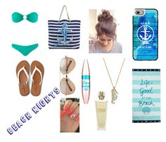 """""""🌊❤️"""" by isabellerivette on Polyvore featuring Melissa Odabash, American Eagle Outfitters, Valentino, Maybelline, Kate Spade, Casetify, Lexington and Kat Burki"""