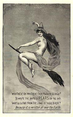 Imagen de una bruja anunciando jabón Pears, 1899