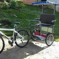 Tricycle Bike, Trike Bicycle, Cargo Bike, Trailer Diy, Bike Trailer, Bike Parade, Biking With Dog, Powered Wheelchair, Metal Working Tools