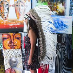 Real White Chief Indian Headdress 135cm, Native American Costume Hand Made Feathers War Bonnet Hat