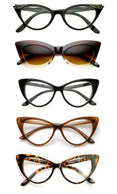 """1950's Vintage Glasses ⛱"" by jaydewest on Polyvore featuring ZeroUV, vintage, 1950s, glasses, retro and pinup"