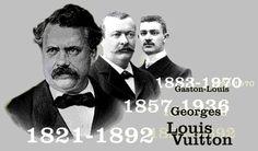 The Vuitton Men - Louis Vuitton, Founder, his son Georges Vuitton, and Georges son, Louis Vuitton's grandson Gaston-Louis Vuitton