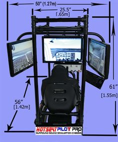 HOTSEAT FLIGHT SIM PILOT PRO 3 FROM AIRCRAFT SPRUCE