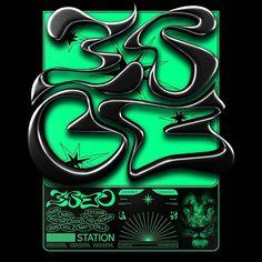 Typo Design, Graphic Design Posters, Graphic Design Illustration, Print Design, Branding Design, Illustration Art, Cyberpunk Art, Typography, Design Inspiration