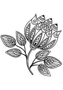 Artistic doodle flower
