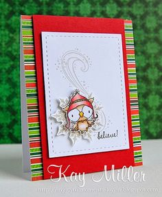 Stamps: All from Purple Onion Designs - Snowy the owl, snowflake, swirl Dies: Lil' Inkers stitched mats