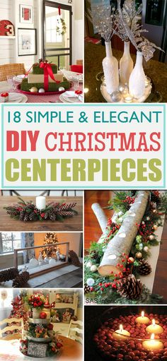 20 festive christmas centerpieces you can make yourself christmas 18 simple and elegant diy christmas centerpieces solutioingenieria Image collections