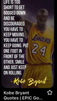 Kobe Quotes, Kobe Bryant Quotes, Wisdom Quotes, Words Quotes, Quotes To Live By, Sayings, Favorite Quotes, Best Quotes, Positiv Quotes