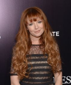 """STEF DAWSON isn't afraid of ghosts at the premiere of """"The Quiet Ones"""" in Hollywood. Hair by DAVID STANWELL"""