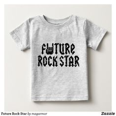 Future Rock Star Baby T-Shirt Funny Baby Shirts, Funny Babies, Funny Dad, Hilarious, How Big Is Baby, Baby Love, Big Baby, Hot Dads, Diy Baby Gifts