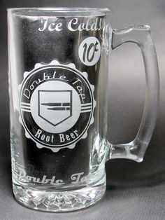 Double Tap Root Beer Etched Beer Mug: COD Zombies Inspired Double Tap Root Beer Perk-A-Cola inspired mug. Double Tap Perk Machine Tribute by ZombieGiftsandStuff on Etsy