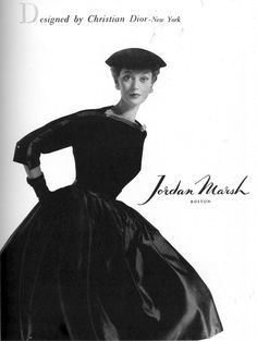 Barbara Mullen in full-skirted dress by Christian Dior - New York, Vogue, September 15, 1951