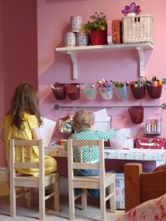 Impressive DIY Kid's Art Stations features ideas and inspiration for designing your own kid's art center or kid's art station.