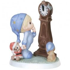 """Christmas Gifts, """"Counting The Seconds 'Til Christmas"""", Bisque Porcelain Figurine, #151011 - Precious Moments"""