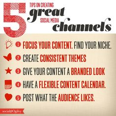 5 Tips on Creating Great Social Media Channels [Infographic] #infographic #socialmedia