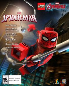 Spider-Man and friends come to lego marvel's avengers Lego Spiderman, Lego Dc, Civil War Characters, Avengers Characters, The Avengers, Stan Lee, Martin Freeman, Free Spider, Films Marvel