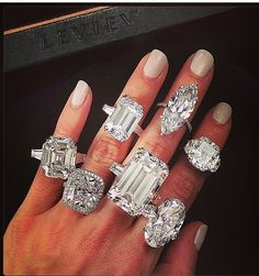 ANY OF THESE!!!!! I'M IN HEAVEN!!!!! One for every day of the week.. Beautiful huge engagement rings!