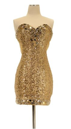 Cruise Gold Sequin Short Cocktail Dress See-Through Back Jewels $195.99