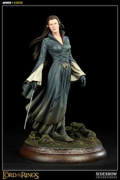 Sideshow Collectibles continues their line of Lord of the Rings 1:5 scale statues with the Arwen Statue.  This stunning statue of the daughter of Elrond stands 13.5 inches tall and is a limited edition, hand-painted Lord of the Rings collectible.