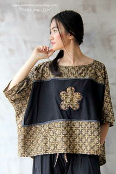 Batik Amarillis made in Indonesia Batik Fashion, Hijab Fashion, Boho Fashion, Fashion Outfits, Womens Fashion, Fashion Design, Emo Outfits, Blouse Batik, Batik Dress