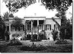 Henry McAlpin's home at Hermitage Plantation, built c. 1820.  Henry McAlpin's 400-acre plantation was located on the Savannah River, just north of the city of Savannah--the heart of a rice-growing region. McAlpin was one of the wealthiest men in the South. He didn't just rely only on crops for his livelihood; he manufactured bricks, rice barrels, cast iron products and lumber, too. Examining the site plan of the Hermitage Plantation reveals a variety of buildings and industries.