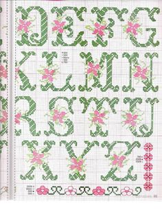 ru / Фото - Chiffres et ABC - Summerville Cross Stitch Letters, Alphabet Design, Christmas Cross, Counted Cross Stitch Patterns, Letters And Numbers, Pixel Art, Needlework, Embroidery Designs, Bullet Journal