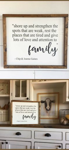 Love this quote by Chip and Joanna Gaines. Shore Up and Strengthen The Spots That Are Weak, Rest The Places That Are Tired - Farmhouse sign, Rustic sign, family sign, Farmhouse decor, Rustic decor, Fixer Upper gift idea #ad