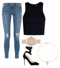 """Liane v"" by ailanydiazaguilar ❤ liked on Polyvore featuring Frame Denim, T By Alexander Wang, Michael Kors, Jimmy Choo and Rebecca Minkoff"