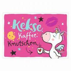 Postkarte »Kekse. Kaffee. Knutschen.«
