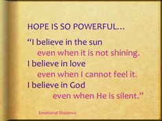 The power of #Hope