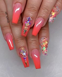 15 Color Changing Nail Inspirations – Cool Nail Art Designs 2020 – Her Style Code 15 Color Changing Nail Inspirations Cool Nail Art Designs 2019 Nail Art Designs, Cute Acrylic Nail Designs, Beautiful Nail Designs, Beautiful Nail Art, Gorgeous Nails, Pretty Nails, Summer Acrylic Nails, Best Acrylic Nails, Nail Swag