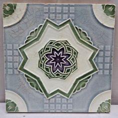 Open-Minded Tile Japan Majolica Art Nouveau Saji Vintage Rose Flower Design Collectibles Refreshment Tiles Antiques