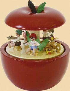 Music Box Apple Child Concert by Richard GlÀsser Music Box Maker, Music Boxes, Wooden Music Box, Apple My, Apple Theme, Kitchen Decor Themes, Painted Boxes, Apple Music, Trinket Boxes