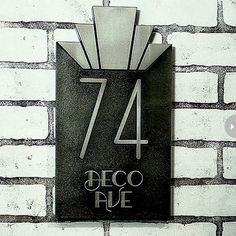 Architecture was hugely influential in the Art Deco period, influencing the styles of fashion and interior design trends. Give your home's exterior the grandeur of the Empire State Building with this inspired number plate. Atlas Signs & plaques on Etsy