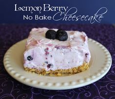 Lemon Berry No Bake Cheesecake...only takes 15 minutes prep work.