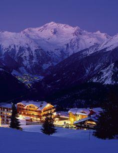 Viaje de invierno en los Alpes