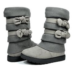DREAM PAIRS Toddler Klove Grey Faux Fur Lined Mid Calf Winter Snow Boots Size 10 M US Toddler ** Visit the image link more details. (This is an affiliate link) Zipper Stuck, Accessories Online, Winter Snow Boots, Kids Boots, Winter Sweaters, Mid Calf Boots, Cloth Bags, Ugg Boots, Uggs