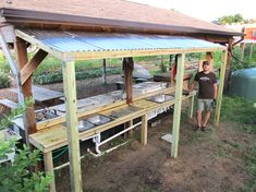 vegetable washing stations - Google Search