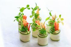 Vegan Friendly Canapés: Zucchini Roll Ups   Move Nourish Believe