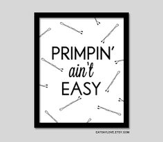 girly bathroom decor funny wall art funny print by EatSayLove, $18.00