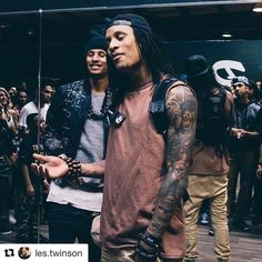 "261 Likes, 6 Comments - Los Angeles Les Twins♊️  (@losangeleslestwins) on Instagram: ""Laurent's tattoo is a work of art! #Repost @les.twinson (@get_repost) ・・・ #officiallestwins…"""