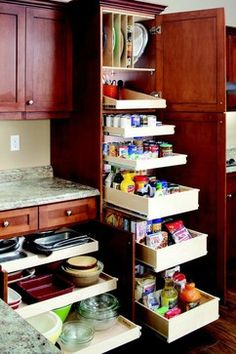 Pull Out Pantry Shelves!  Organize your house easily with the help of Shelf Genie of Southfield, MI!  Call (248) 420-3903 for a FREE design consultation or visit our website www.shelfgenie.com/southfield for more information!