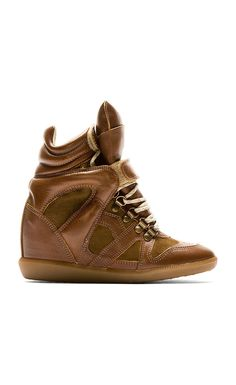 Isabel Marant Brown Leather Tibetan Sneakers - Isabel Marant