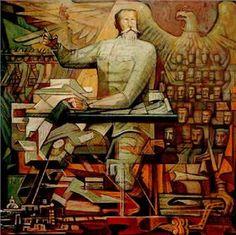 Jorge González Camarena - Proyecto para el mural de la Constitución de 1917 - Arte México - Informacion de la Obra