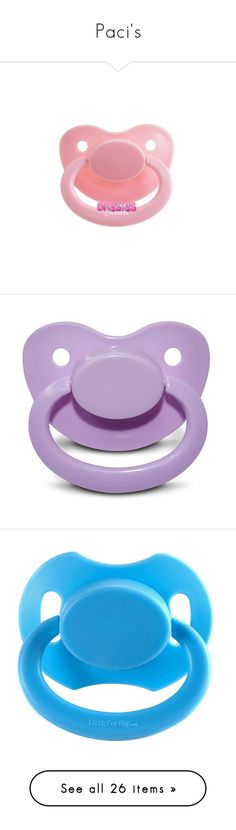 """""""Paci's"""" by daddies-baby-bear ❤ liked on Polyvore featuring pacis, pacifiers and accessories"""