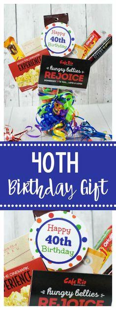 40th Birthday Gift Idea-Fun Gift Card Bouquet. This is such a fun birthday gift. #birthday #birthdaygift #giftidea