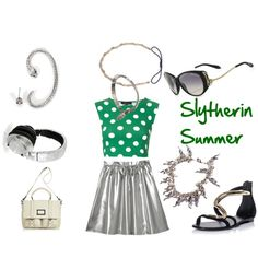 """Slyterin Summer"" by olliegmich493 on Polyvore"